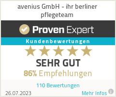 Erfahrungen & Bewertungen zu avenius GmbH - ihr berliner pflegeteam