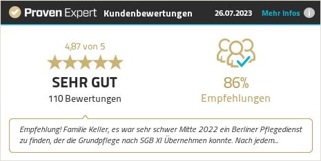 Erfahrungen & Bewertungen zu avenius GmbH – ihr berliner pflegeteam anzeigen