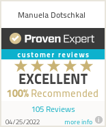 Ratings & reviews for Manuela Dotschkal