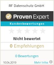 Erfahrungen & Bewertungen zu RF Datenschutz GmbH