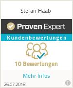 Bewertungen und Garantie zu Stefan Haab