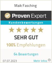 Erfahrungen & Bewertungen zu Maik Fasching