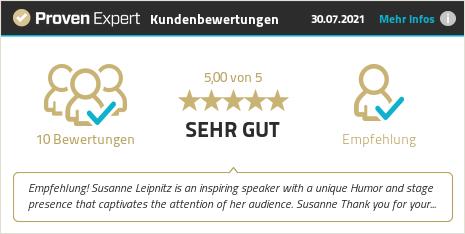 Kundenbewertungen & Erfahrungen zu Susanne Leipnitz. Mehr Infos anzeigen.