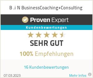 Erfahrungen & Bewertungen zu B .i N BusinessCoaching+Consulting