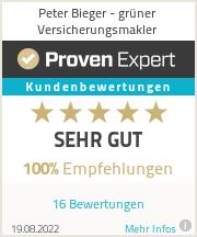 Erfahrungen & Bewertungen zu Peter Bieger - grüner Versicherungsmakler