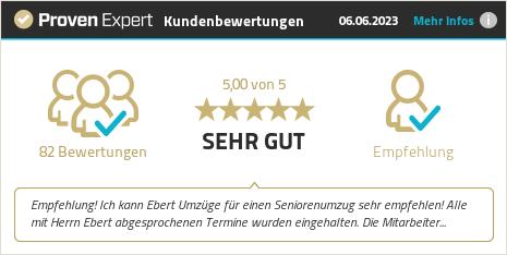 Erfahrungen & Bewertungen zu Entsorgungs- und Umzugsspedition Ebert GmbH anzeigen