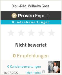 Erfahrungen & Bewertungen zu Dipl.-Päd. Wilhelm Goss