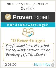 Erfahrungen & Bewertungen zu Büro für Sicherheit Böhler Dominik