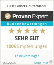 Erfahrungen & Bewertungen zu First Corner Deutschland