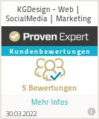Erfahrungen & Bewertungen zu KGDesign - Web | SocialMedia | Marketing