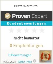 Erfahrungen & Bewertungen zu Britta Warmuth