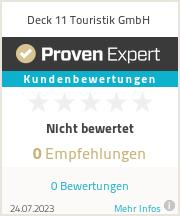 Erfahrungen & Bewertungen zu Deck 11 Touristik GmbH