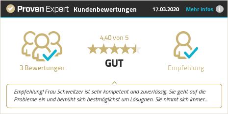 Kundenbewertungen & Erfahrungen zu Schweitzer & Partner. Mehr Infos anzeigen.