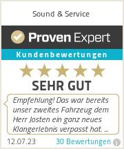 Erfahrungen & Bewertungen zu Sound & Service