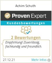 Erfahrungen & Bewertungen zu Achim Schuth