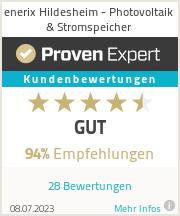 Erfahrungen & Bewertungen zu enerix Hildesheim - Photovoltaik & Stromspeicher