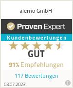 Alerno GmbH için deneyimler ve derecelendirmeler