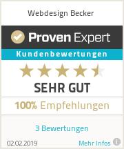 Erfahrungen & Bewertungen zu Webdesign Becker