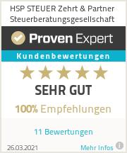 Erfahrungen & Bewertungen zu HSP STEUER Zehrt & Partner Steuerberatungsgesellschaft