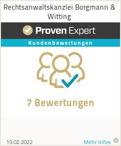 Erfahrungen & Bewertungen zu Rechtsanwaltskanzlei Borgmann & Witting