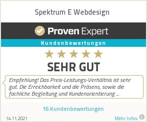 Erfahrungen & Bewertungen zu Spektrum E Webdesign