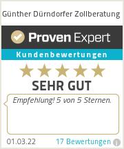 Erfahrungen & Bewertungen zu Günther Dürndorfer Zollberatung