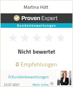 Erfahrungen & Bewertungen zu Martina Hütt