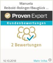 Erfahrungen & Bewertungen zu Manuela Reibold-Rolinger/Bauglück GmbH