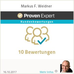 Erfahrungen & Bewertungen zu Markus F. Weidner