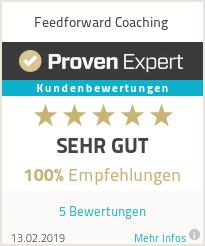 Erfahrungen & Bewertungen zu Feedforward Coaching