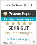 Erfahrungen & Bewertungen zu High Life Reisen GmbH