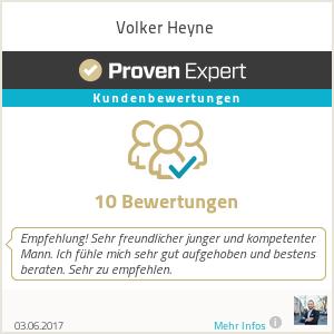 Erfahrungen & Bewertungen zu Volker Heyne
