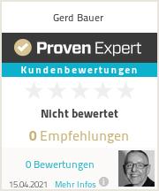 Erfahrungen & Bewertungen zu Gerd Bauer