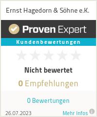 Erfahrungen & Bewertungen zu Ernst Hagedorn & Söhne e.K.
