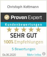 Erfahrungen & Bewertungen zu Christoph Kottmann