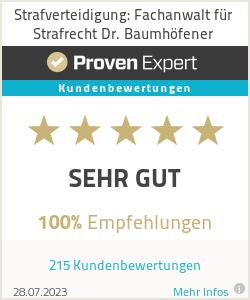 Erfahrungen & Bewertungen zu Strafverteidigung: Fachanwalt für Strafrecht Dr. Baumhöfener