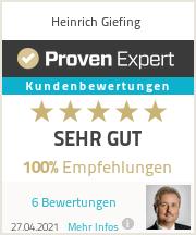 Erfahrungen & Bewertungen zu Heinrich Giefing
