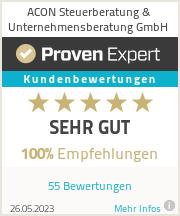 Erfahrungen & Bewertungen zu ACON Steuerberatung & Unternehmensberatung GmbH