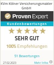 Erfahrungen & Bewertungen zu KVm Kölner Versicherungsmakler GmbH