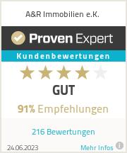 Erfahrungen & Bewertungen zu A&R Immobilien e.K.