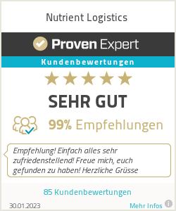 Erfahrungen & Bewertungen zu Nutrient Logistics