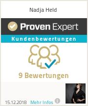 Erfahrungen & Bewertungen zu Nadja Held
