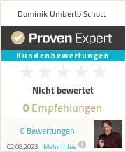 Erfahrungen & Bewertungen zu Dominik Umberto Schott