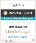 Erfahrungen & Bewertungen zu Birgit Urfey