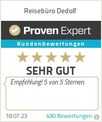 Erfahrungen & Bewertungen zu Reisebüro Dedolf