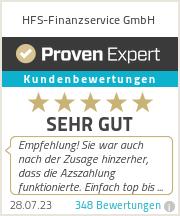 Erfahrungen & Bewertungen zu HFS-Finanzservice GmbH
