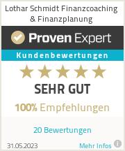 Erfahrungen & Bewertungen zu Lothar Schmidt Finanzcoaching & Finanzplanung