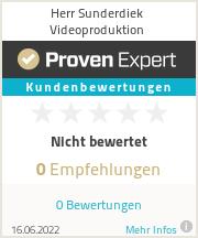 Erfahrungen & Bewertungen zu Herr Sunderdiek Videoproduktion
