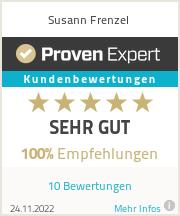 Erfahrungen & Bewertungen zu Susann Frenzel