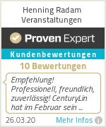 Erfahrungen & Bewertungen zu Henning Radam Veranstaltungen